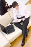 Business partners, high-angle stock photo