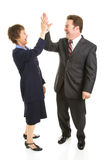 Business Partners High Five Royalty Free Stock Images