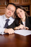 Business partners at home Stock Photos