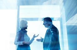 Business partners interacting Royalty Free Stock Image