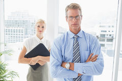 Business partners looking at camera Royalty Free Stock Photo