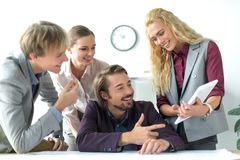 Business partners looking at tablet Royalty Free Stock Photography