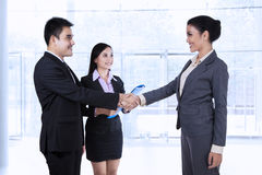 Business partners making an agreement Stock Photos