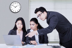Business partners making job plan together Stock Photography