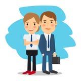 Business partners man and woman Stock Photos