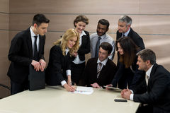 Business partners meeting. Stock Photo