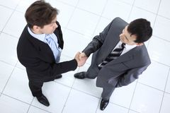 Business partners before a business meeting Royalty Free Stock Photos