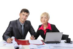 Business partners in the office Stock Photos