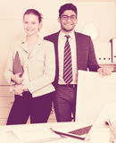 Business partners in office Royalty Free Stock Photography