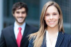 Business partners outdoor Royalty Free Stock Images