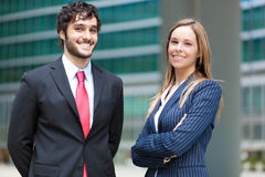 Business partners outdoor Royalty Free Stock Photos