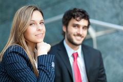 Business partners outdoor Royalty Free Stock Photo