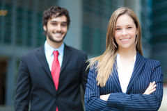 Business partners outdoor Stock Photo
