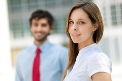 Business partners outdoor Royalty Free Stock Image