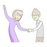 Business Partners at the Party Dancing. Vector Royalty Free Stock Image