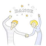 Business Partners at the Party Dancing. Vector Stock Image
