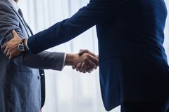 Business partners shaking hands Royalty Free Stock Images