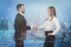 Business partners shaking hands. Royalty Free Stock Photography