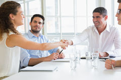 Business partners shaking hands Stock Image
