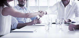 Business partners shaking hands Royalty Free Stock Image