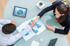 Business partners shaking hands on deal Royalty Free Stock Photo