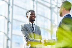 Business Partners Shaking Hands on Successful Deal stock photos