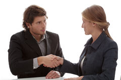 Business partners shaking their hands Stock Photography