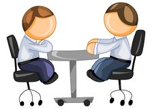 Business partners sitting at the table Royalty Free Stock Image