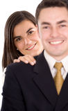 Business partners smiling Royalty Free Stock Photo