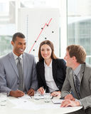 Business partners smiling at the camera Royalty Free Stock Image