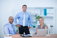 Business partners smiling at camera Royalty Free Stock Photo