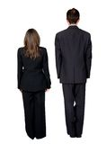 Business partners standing from the back Royalty Free Stock Photography