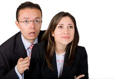 Business partners surprised Stock Photography