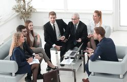 Business partners and business team discussing a new contrac. T. meetings and partnership Stock Photography