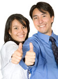 Business partners with thumbs up Stock Images