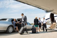 Business Partners About To Board Private Jet Royalty Free Stock Photo