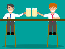 Business partners toasting with happy Stock Image