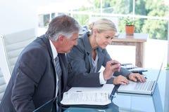 Business partners using laptop Stock Image