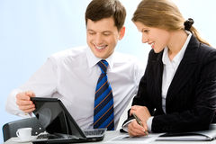 Business partners at work Stock Images
