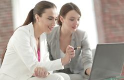 Business partners work with the documentation Royalty Free Stock Photography