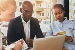 Business partners working Royalty Free Stock Photos