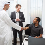 Business partners working in the office. Royalty Free Stock Images
