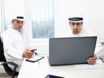 Business partners working in the office. Royalty Free Stock Photos
