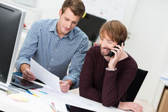 Business partners working in the office Royalty Free Stock Images