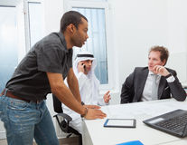 Business partners working in the office. Stock Photo