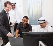 Business partners working in the office. Royalty Free Stock Photography