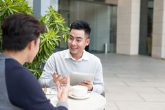 Business partners working in team, working sharing new ideas Royalty Free Stock Photos