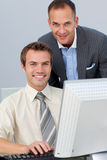 Business partners working together Stock Image