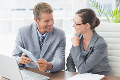 Business partners working together Royalty Free Stock Photography