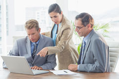 Business partners working together Royalty Free Stock Images